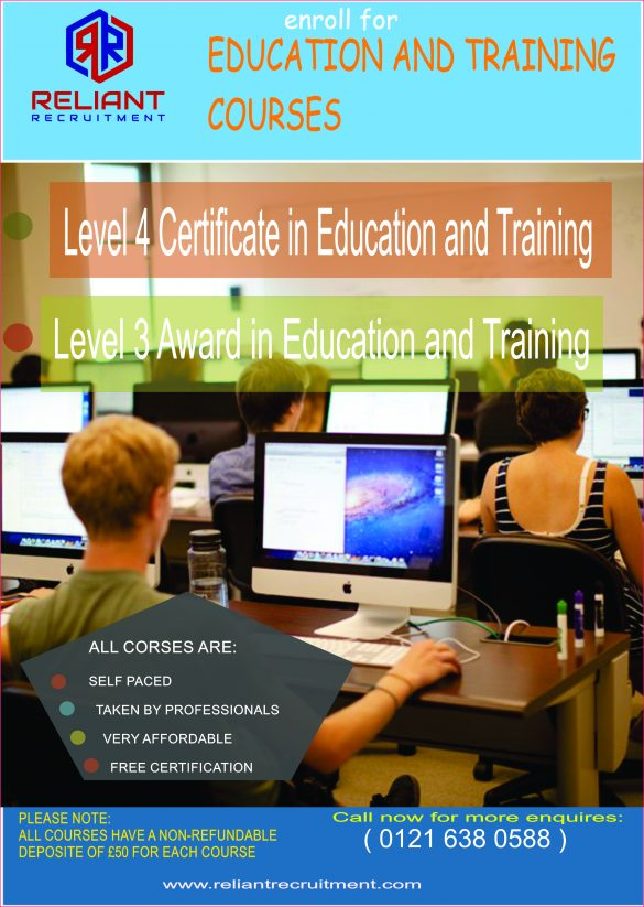 level 4 certification in education and This course is designed for those in an associate teaching role, or for those looking to progress to the full diploma or certificate in education/pgce.